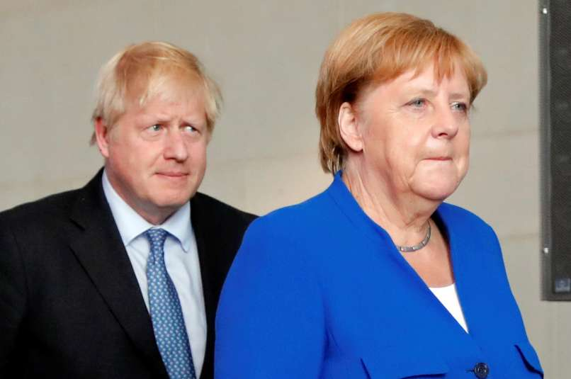 boris johnson, angela merkel