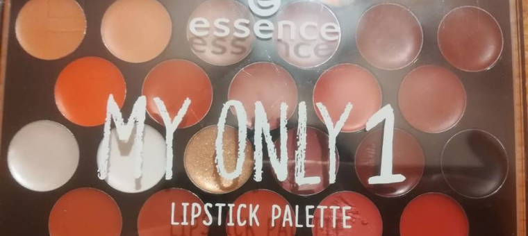 Essence, my only 1 lipstick palette